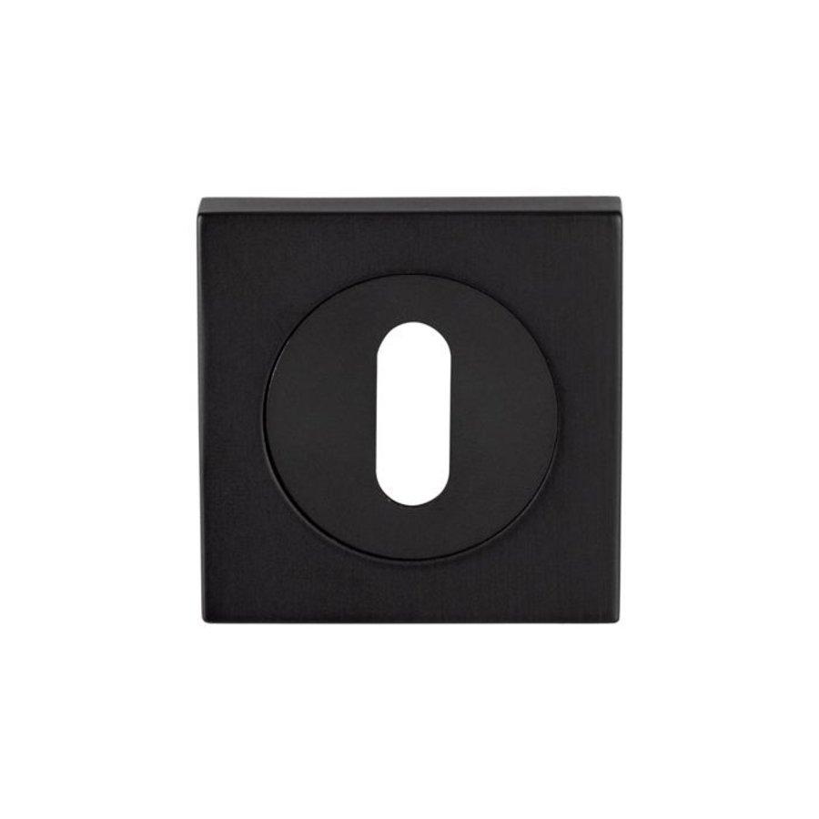 Serozzetta vierkante standaard sleutelozet - mat zwart