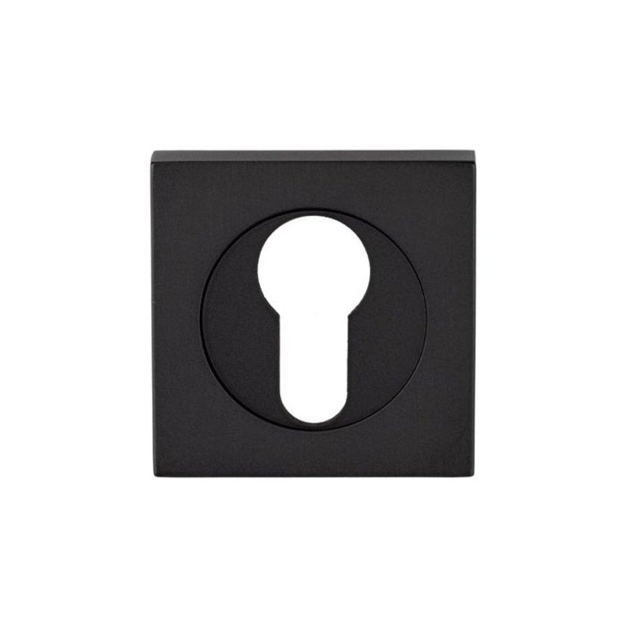 Serozzetta europrofiel sleutelrozet vierkant, mat zwart