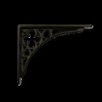 Gietijzeren plankdrager Klaver - zwart