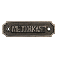 Deurbordje Meterkast van gietijzer industrieel