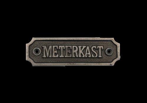 Deurbordje Meterkast van gietijzer