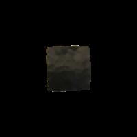 Gietijzeren meubelknop vierkant 26mm - hamerslag + zwarte lak