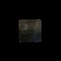Gietijzeren meubelknop vierkant 31 mm - hamerslag + zwarte lak