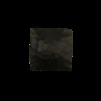 Gietijzeren meubelknop vierkant 37 mm - hamerslag + zwarte lak