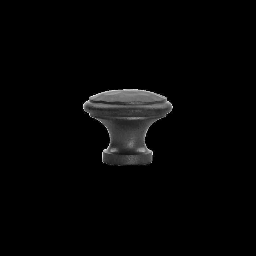 Gietijzeren meubelknop 32 mm - hamerslag.