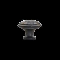 Gietijzeren meubelknop 36 mm - hamerslag + ongelakt