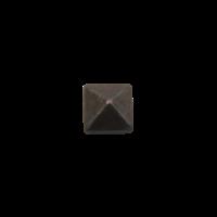 Nagel smeedijzer 16 x 16 mm - piramidekop Pewter