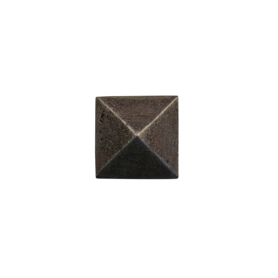 Nagel smeedijzer 25 x 25 mm - piramidekop Pewter