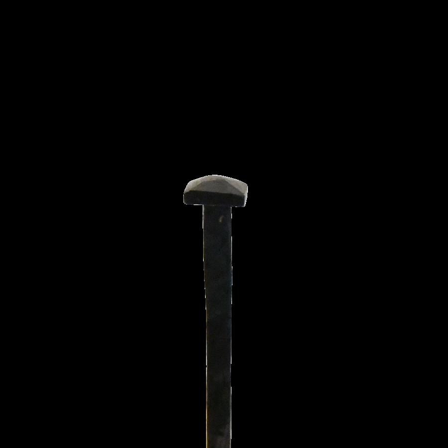 Spijker van smeedijzer 76 mm piramidekop