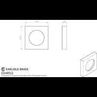 Serozzetta set vierkante rozetten zwart