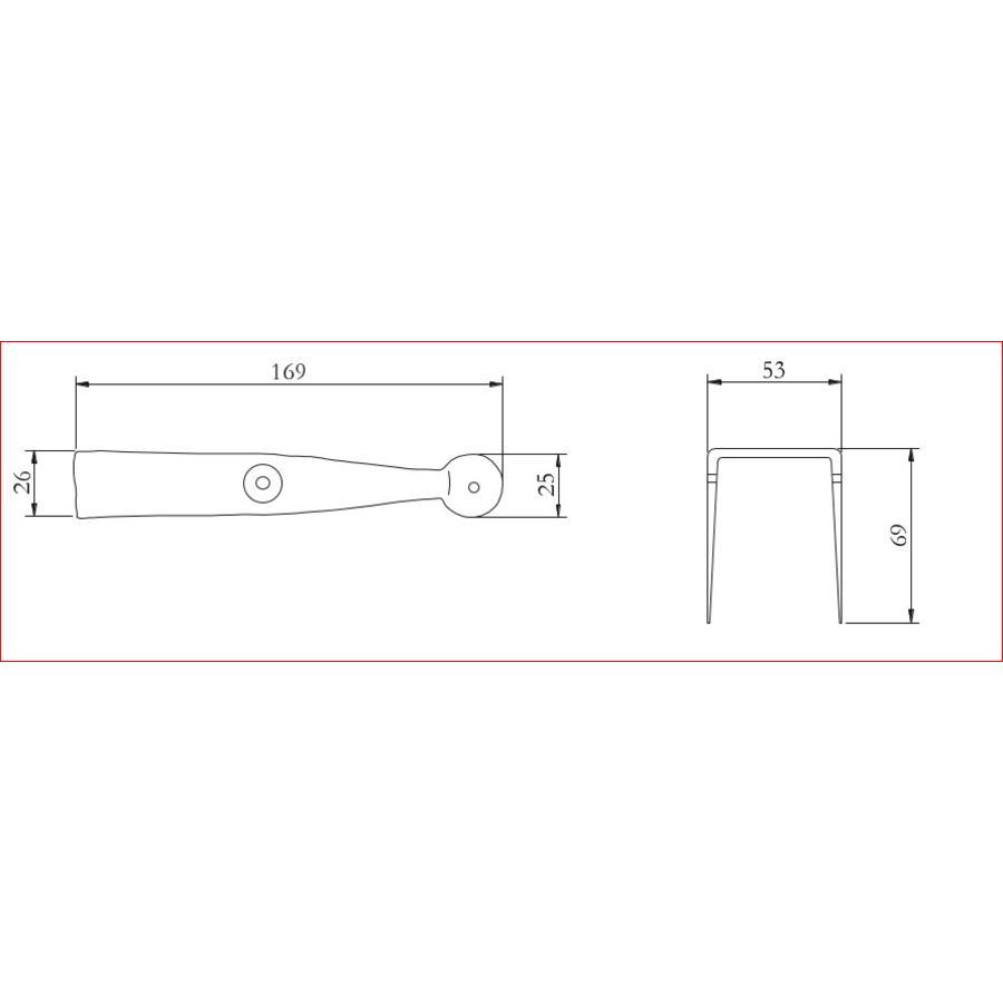 Smeedijzeren deurklink rond - eenvoudig