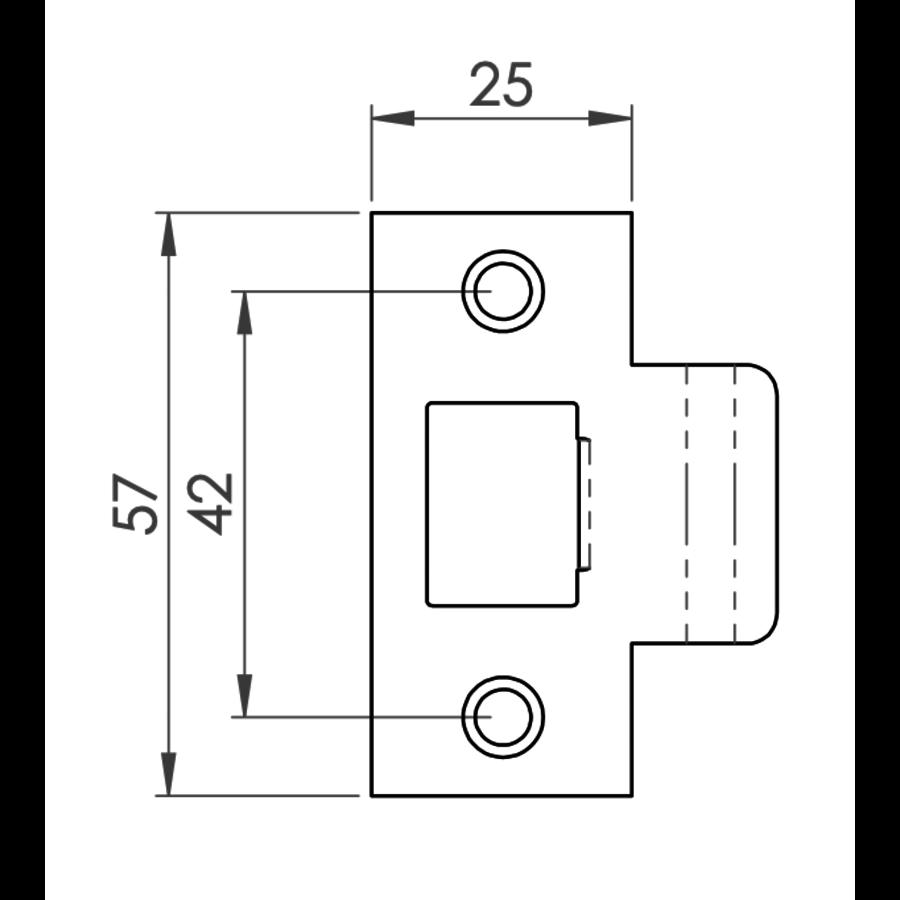 Eenvoudig Loopslot 76mm Zwart