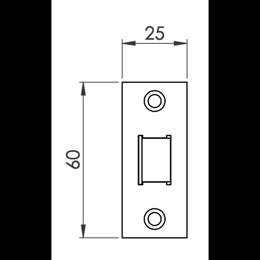 Eenvoudig loopslot links/rechts - zwaar geveerd. Messing/Rvs.