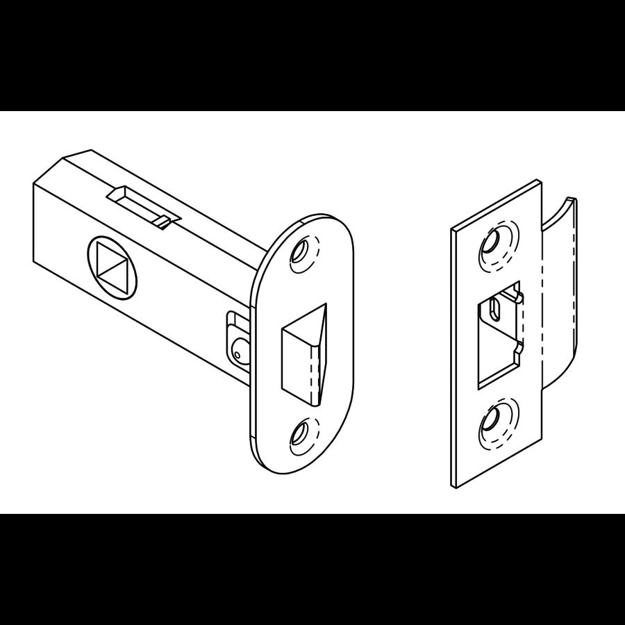 Eenvoudig Loopslot 79mm Chroom