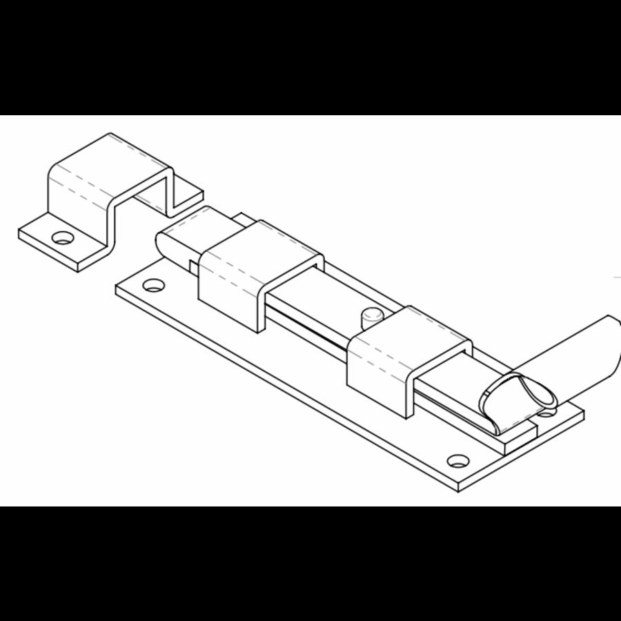 Smeedijzeren deurgrendel visstaart recht 150mm