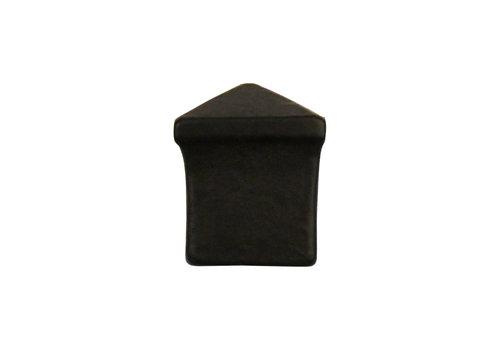 Gietijzeren meubelknop piramide - 24 x 24 mm