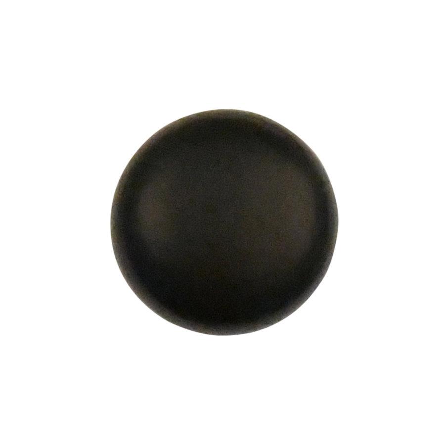 Gietijzeren meubelknop rond, zwart gelakt
