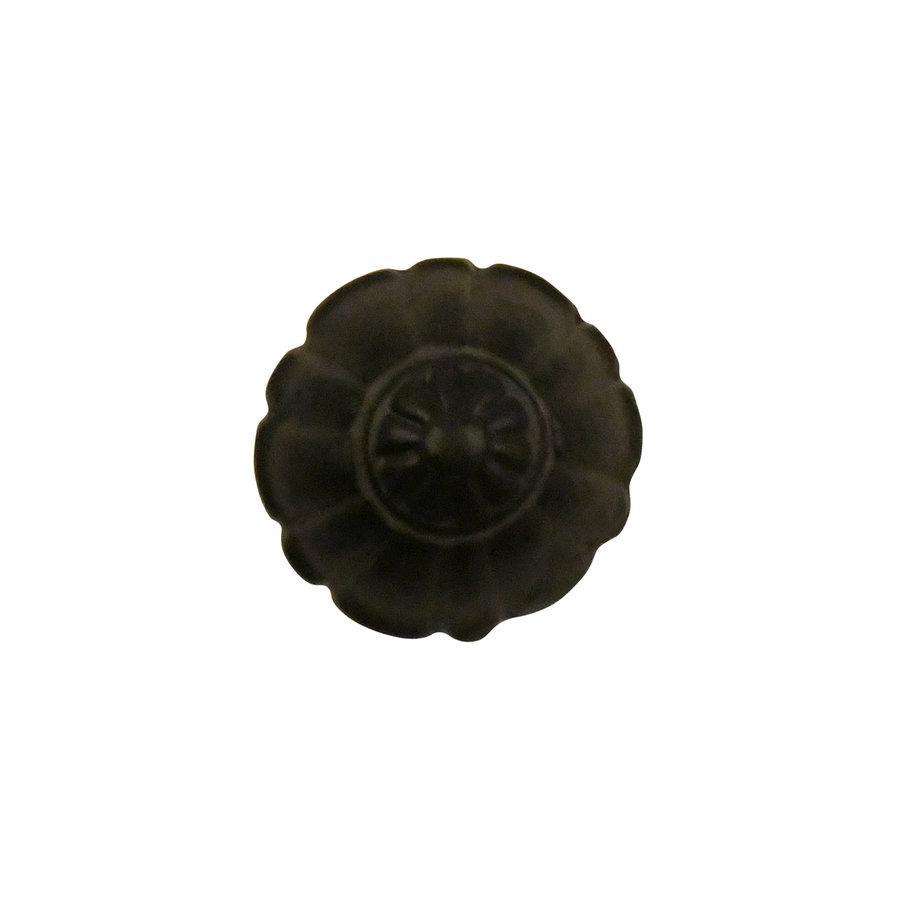 Meubelknop bloem hoog 32mm van gietijzer