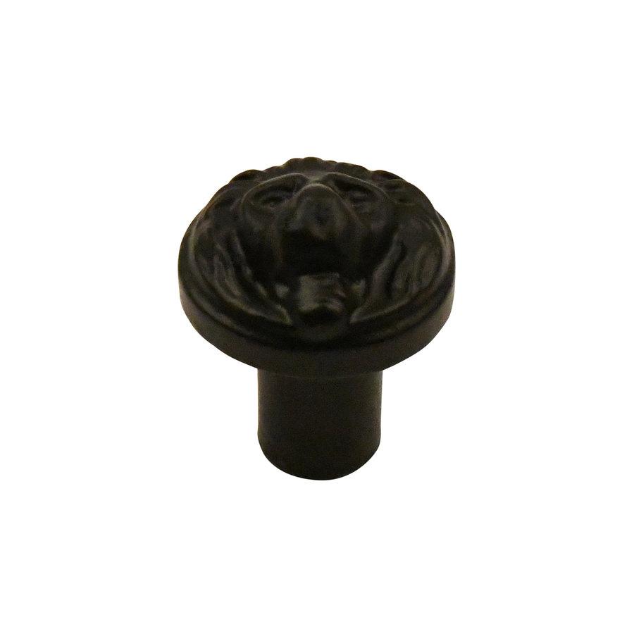 Meubelknop 29 mm  Leeuwenkop zwart