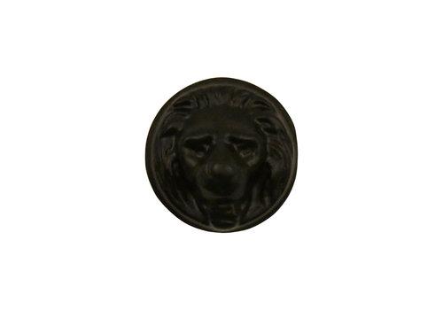 Meubelknop 29mm Leeuwenkop zwart