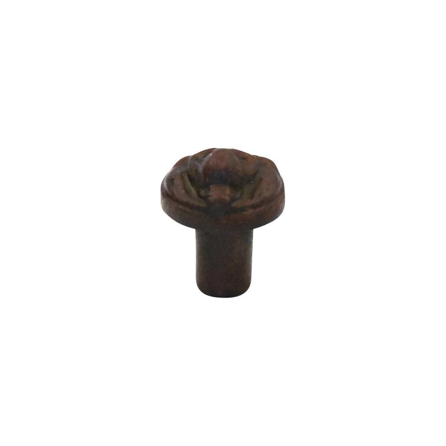 Meubelknop Leeuwenkop 29 mm roest - gietijzer