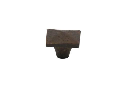 Meubelknop 34 mm roest vierkant