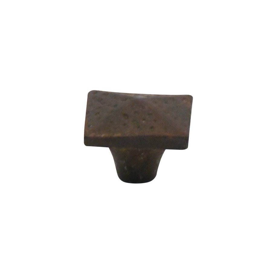 Meubelknop 34x34 mm vierkant roest