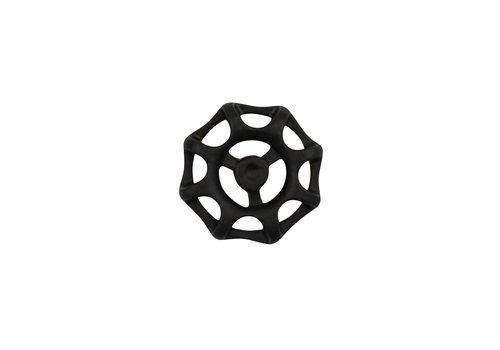 Meubelknop 48mm opengewerkt zwart