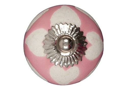 Carlisle Brass Meubelknop 40mm roze beige hartjes