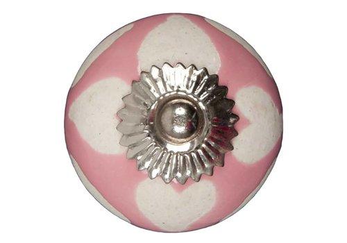 Carlisle Brass Meubelknop roze beige hartjes