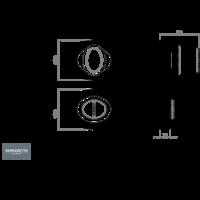 Serozzetta badkamersluiting - Antiek messing