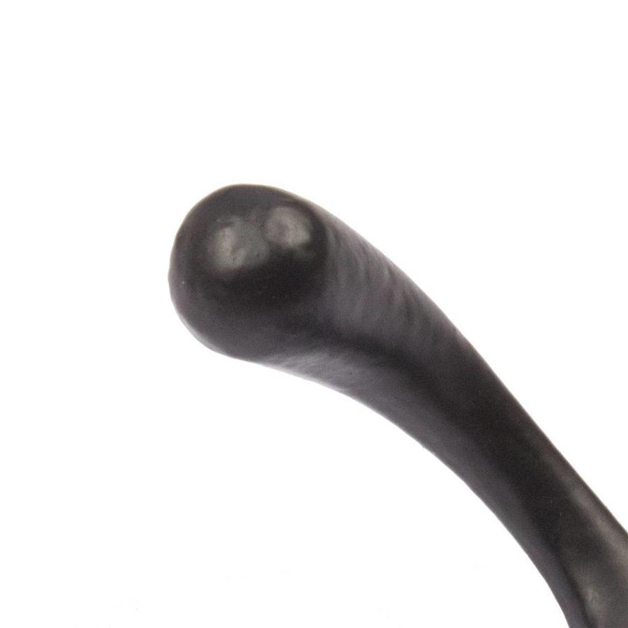 Gietijzeren kapstokhaak dubbel antiek - zwart