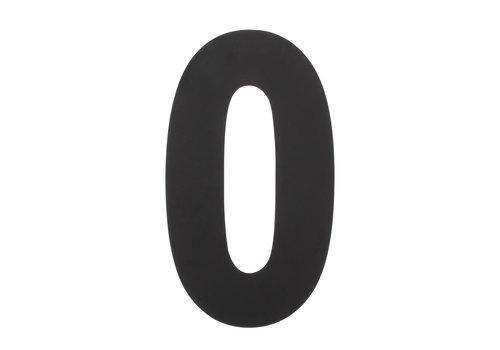 Huisnummer 0 XL 300 mm mat zwart
