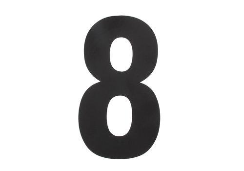 Huisnummer 8 XXL 500 mm mat zwart