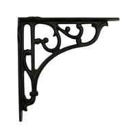 Gietijzeren plankdrager 180x180mm zwart