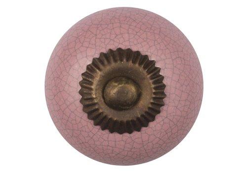 Meubelknop 40mm roze gekrakeleerd - fijn