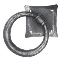Smeedijzeren deurklopper rond - pewter finish