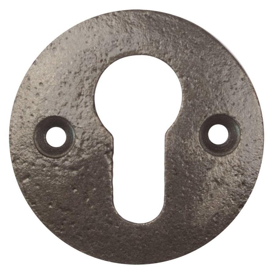 Gietijzeren sleutelplaat europrofiel cylinder rond - blank