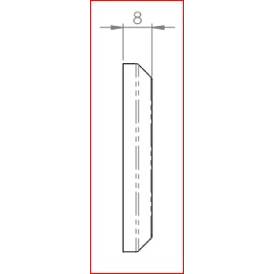 Gietijzeren sleutelplaat europrofiel cylinder rond