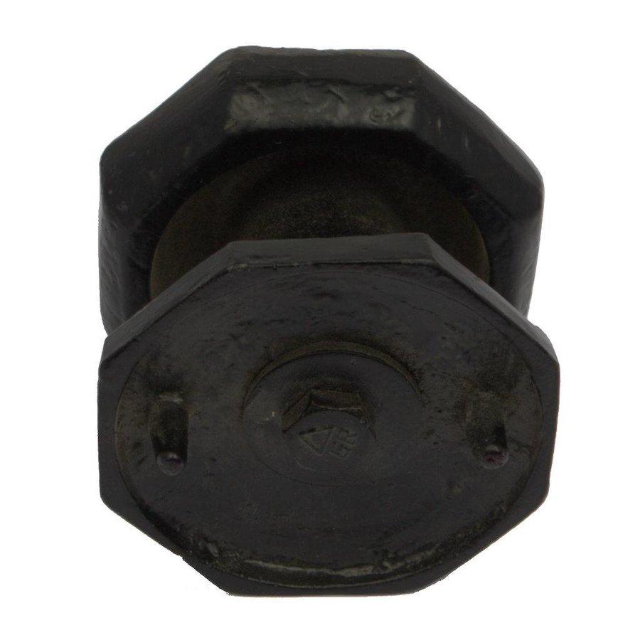 Deurknop gietijzer achthoek enkel G0304