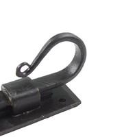 Smeedijzeren deurgrendel haak recht 90mm
