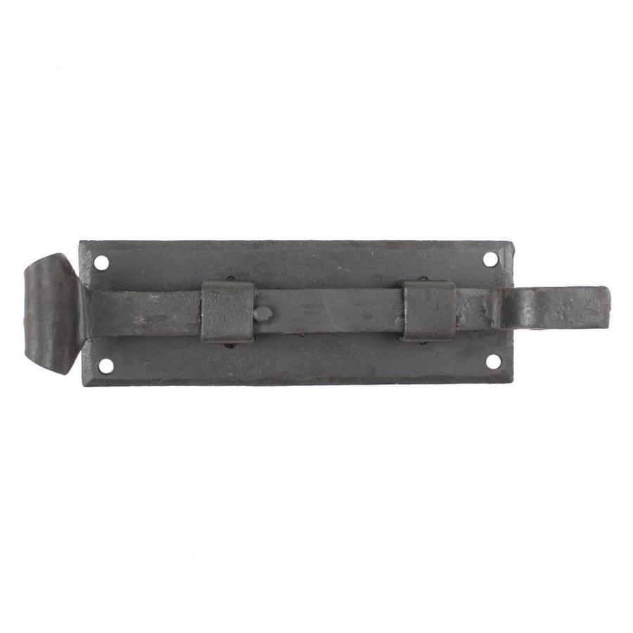 Smeedijzeren deurgrendel visstaart gebogen 154mm