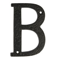 Gietijzeren huisnummertoevoeging A-B
