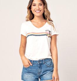 Golden State V Neck T-Shirt mit V-Ausschnitt