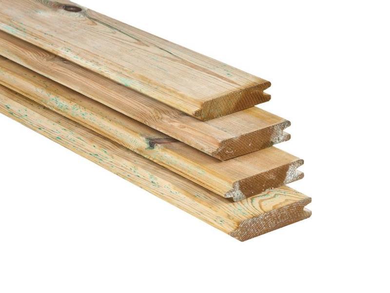 Tuindeco Blokhutprofiel Plank Geïmpregneerd Geschaafd Grenen 28x127mm