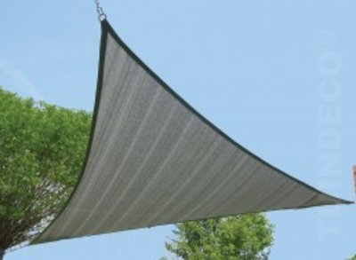 3-hoek 5.50x5.50cm zilvergrijs