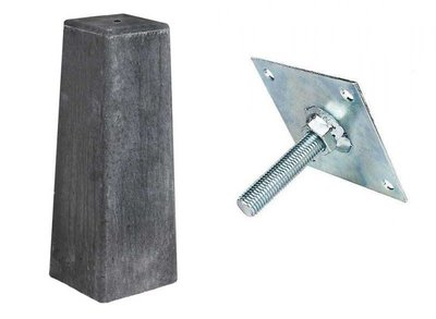 Betonpoer antraciet met stelplaat