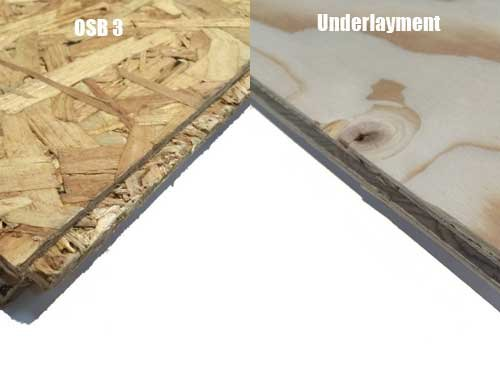 Underlayment of OSB platen?