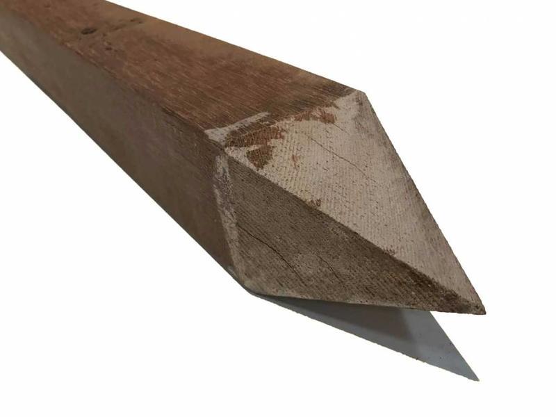 Van Gelder Hout Hardhouten Paal Azobé / Angelim 6,5x6,5cm