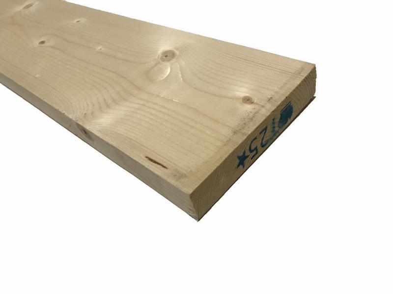 Van Gelder Hout Vuren Plank 28x145 mm (2.8x14.5 cm) Geschaafd